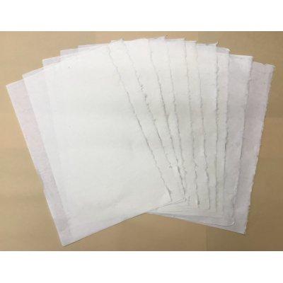 画像1: 手漉き和紙 (菱紙 ひしがみ) 10枚セット